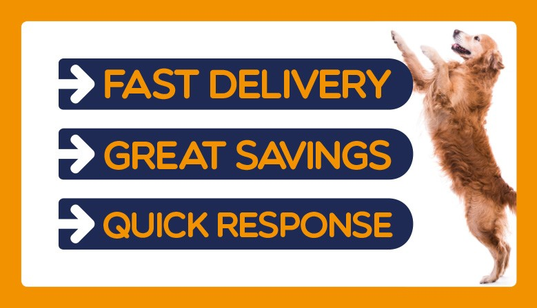 Fast Delivery, Great Savings & Quick Response Try Pet Direct and see the savings